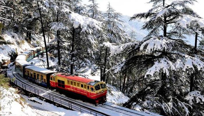 Image result for kalka shimla  rail travel