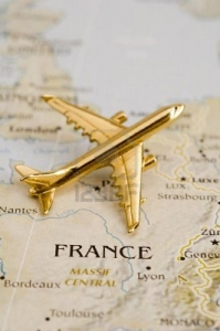 Flight to Paris, France