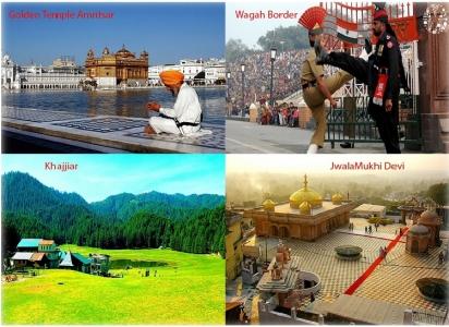 4 Char Devi Darshan Himachal Tour with Golden Temple Amritsar Wagah Border - Dalhousie Dharamshala & Anandpur Sahib