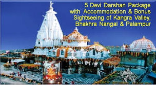 Devi Darshan Shaktipeeth Group Tour with Dharamshala Kullu  Manali