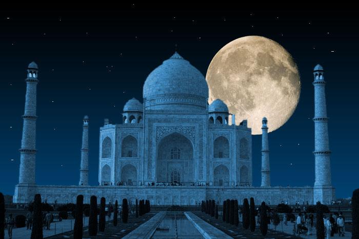 Taj Mahal Full Moon Night Tour Package