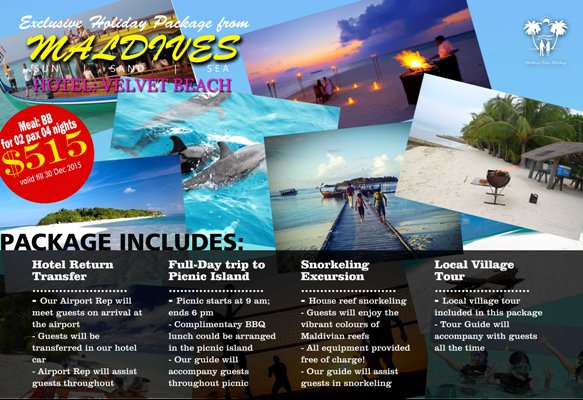 Maldives Tours Package Holiday Travel