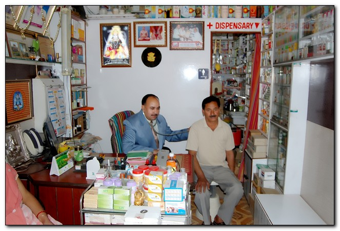 Dr Ashwani Attri Attending patients in His famous Clinic