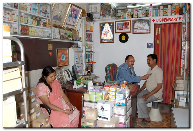Dr Attri with Patients in his famous Una Himachal Clinic