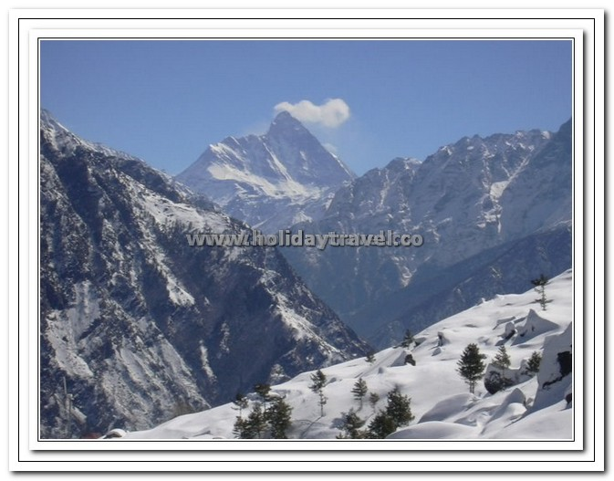 Mighty Nanda Devi in the Backdrop of Auli Ski Slopes