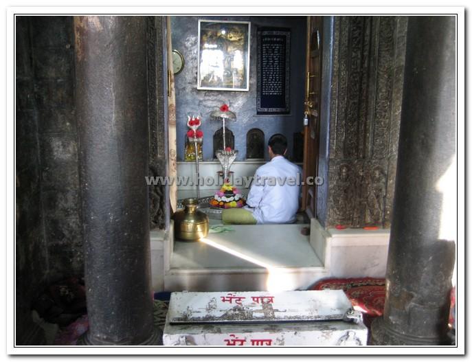Poojari - in sanctum Sanctorum of Baijnath Temple Himachal