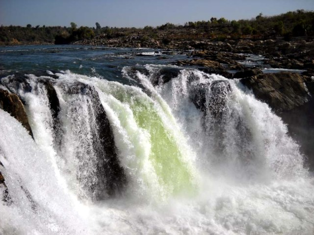 World Famous Jabalpur Waterfall at Bhedaghat