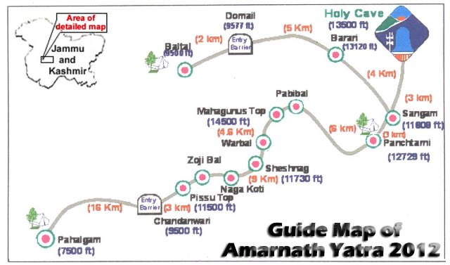 Guide map-of-Amarnath-Yatra-2014-2015