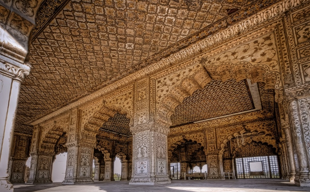 Inside View of Diwan E Khas with Incredible paintings - UNESCO Heritage
