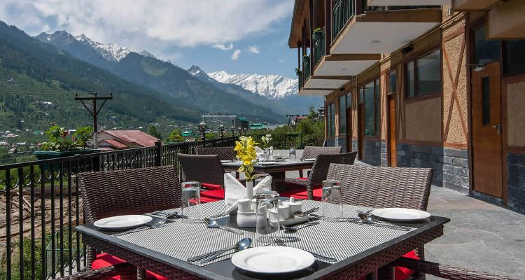 Kullu Manali Special Honeymoon Package3-Dining-Area-View - Anantmaya Manali