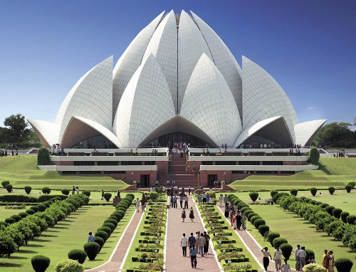 Lotus Temple - Bahai Temple of Worship New Delhi