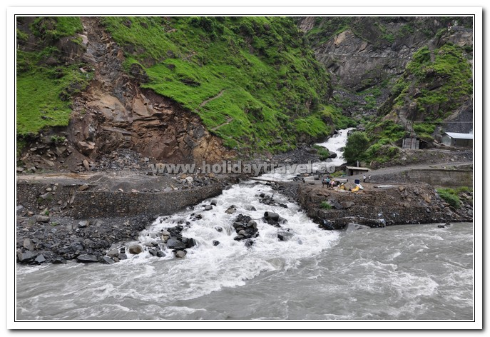 Rivulets meeting the mighty Ravi enroute to Manimahesh Yatra