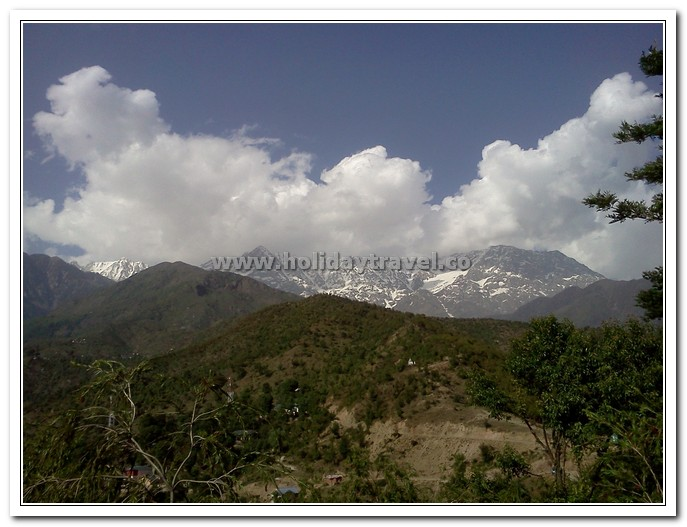 Snow Covered Dhauladhars in Dharamshala