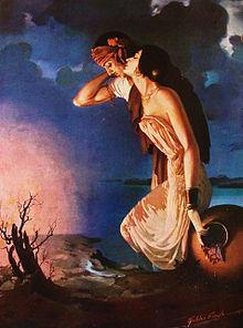 World Famous Sohni Mahiwal painting by Sardar Sobha singh ji