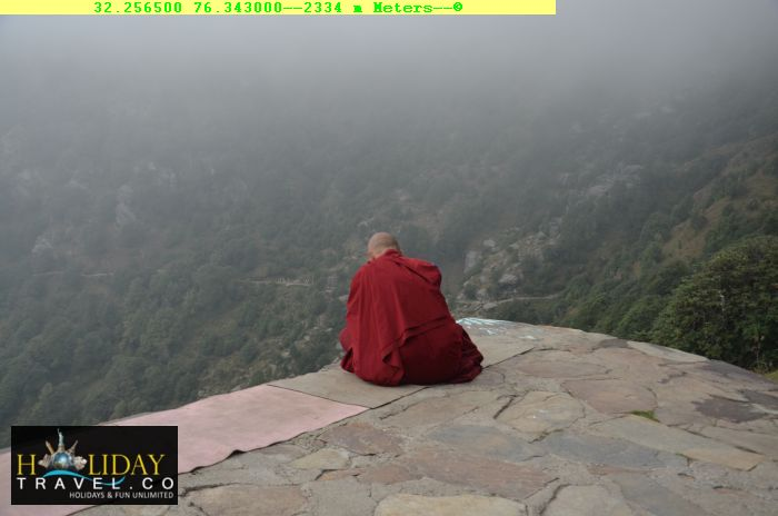 Triund-Trek-Package-Dharamkot-to-Triund-At-2335Meters-Majic-View-cafe-Solitary-Monk-Praying-Amidst-Clouds