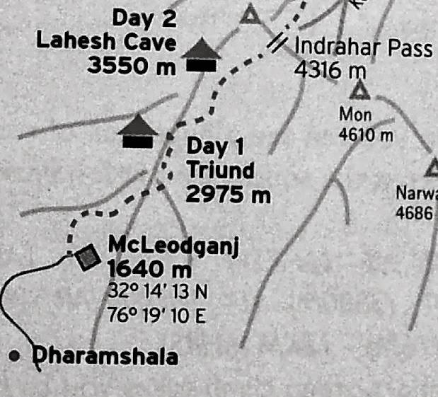Triund-Trekking-Map