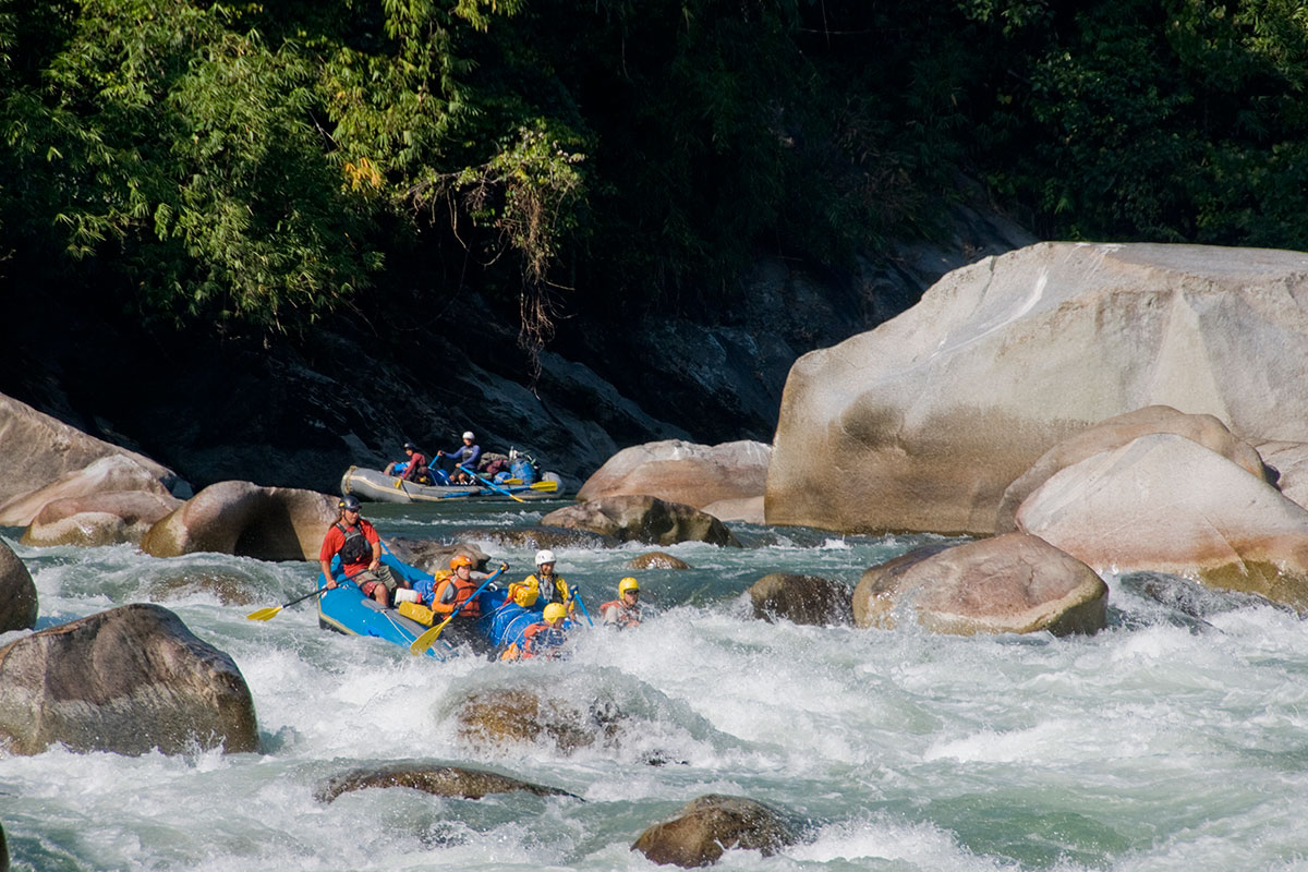 White water rafting in Kameng River