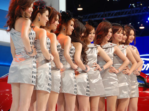 Bangkok Bar Girls Lined up for Take away